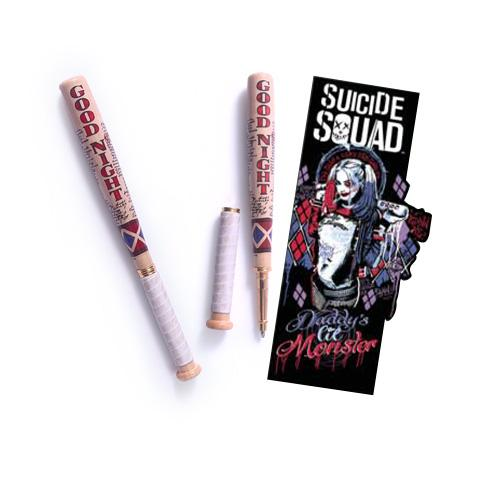 SUICIDE SQUAD - Stylo Batte de Baseball Harley Quinn + Marque-Pages