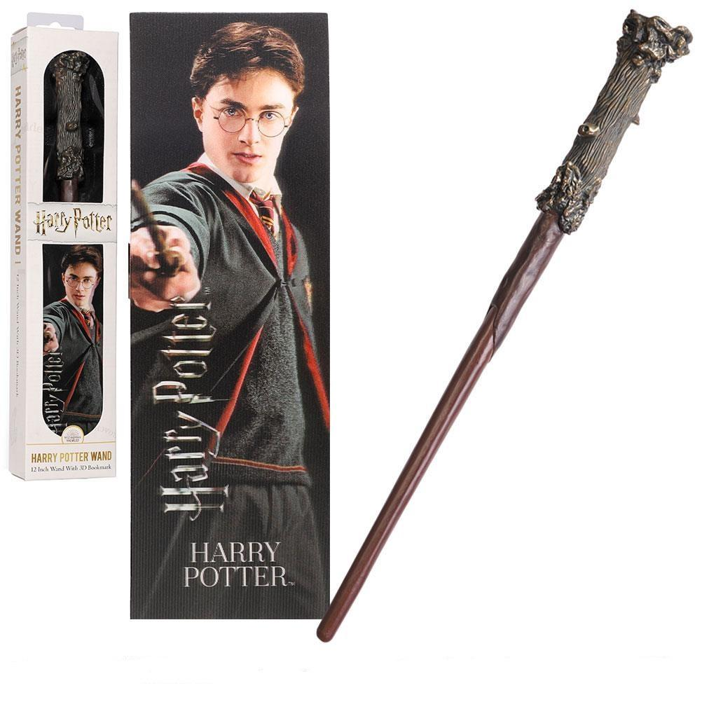 HARRY POTTER - Baguette PVC Harry Potter 30cm + Marque-page 3D