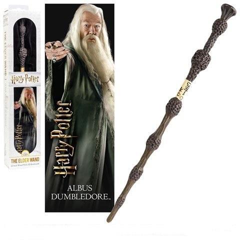HARRY POTTER - Baguette PVC Dumbledore 30cm + Marque-page 3D