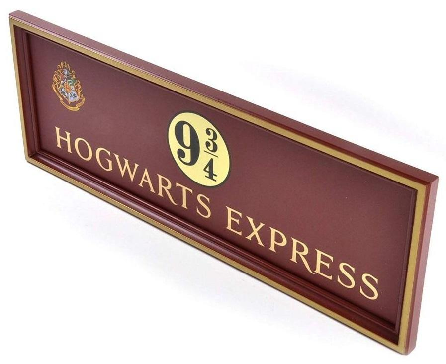 HARRY POTTER - Plaque Poudlard Express Quai 9 3/4_1