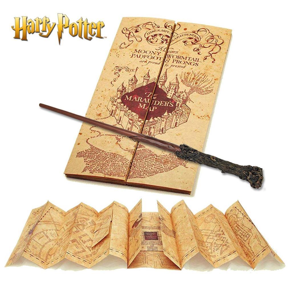 HARRY POTTER - Baguette d'Harry & carte du Maraudeur_2