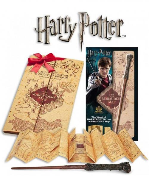 HARRY POTTER - Baguette d'Harry & carte du Maraudeur