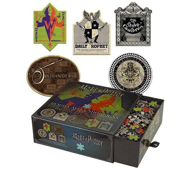 HARRY POTTER - Puzzle 5X200 pcs - Les enseignes du Chemin de Traverse