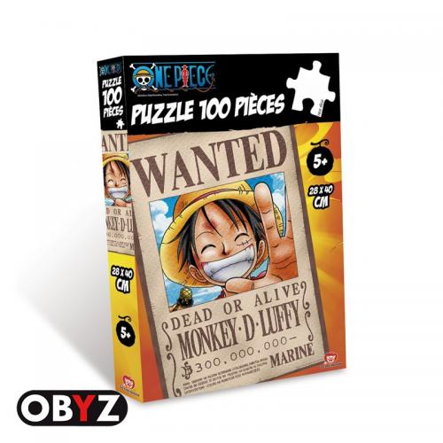 ONE PIECE - Puzzle 100 pces - WANTED Luffy