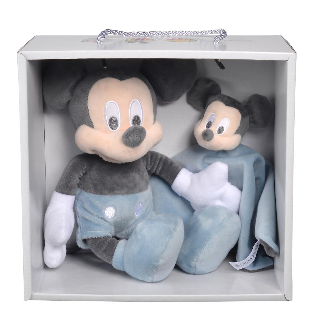 DISNEY - Mickey Tonal Blue SET CADEAU Doudou + Peluche