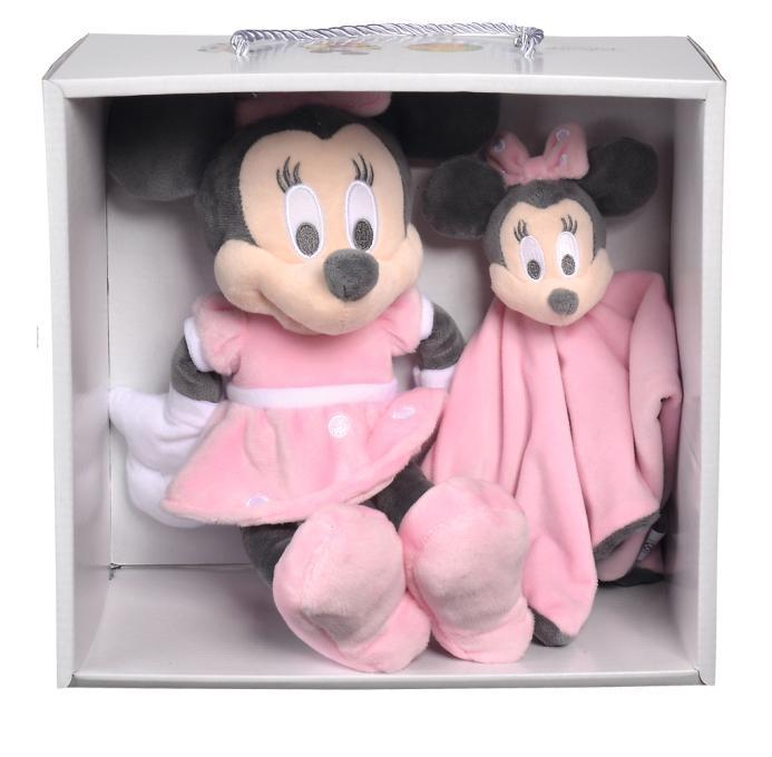 DISNEY - Minnie Tonal Pink SET CADEAU Doudou + Peluche