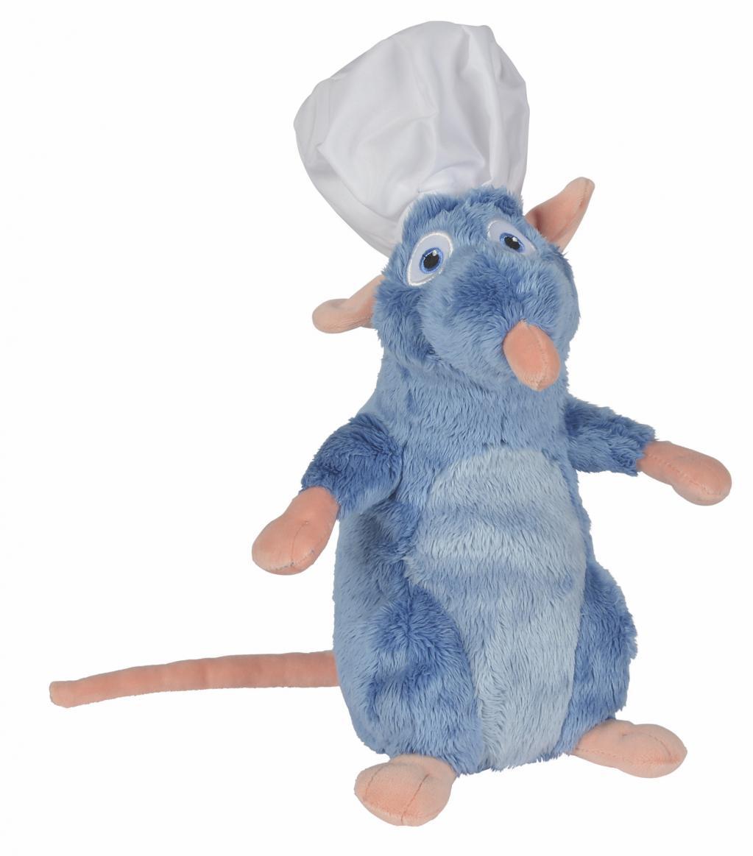 DISNEY - Peluche Ratatouille : Remy avec Toque - 25cm