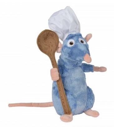 DISNEY - Peluche Ratatouille : Remy avec Toque + Cuillère - 25cm