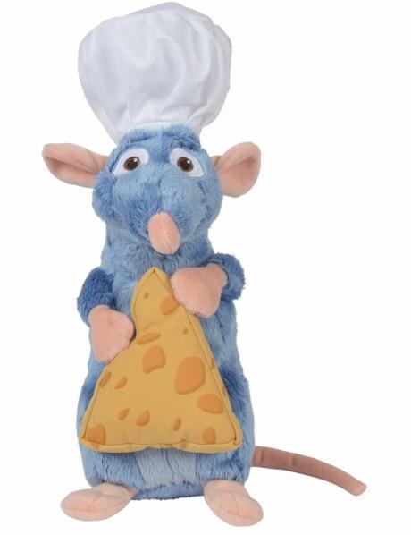 DISNEY - Peluche Ratatouille : Remy avec Toque + Fromage - 25cm