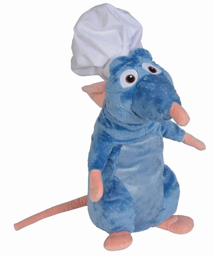 DISNEY - Peluche Ratatouille : Remy avec Toque de chef - 60cm