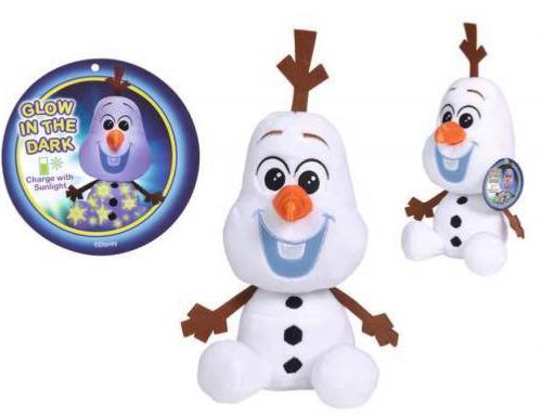DISNEY - Frozen 2 - Peluche Olaf - Brille dans la nuit! - 25cm