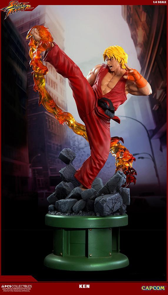 SUPER STREET FIGHTER V - Ken 1/4 Ultra Statue - 63cm