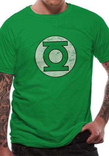 GREEN LANTERN - T-Shirt IN A TUBE- Distressed Logo (L)