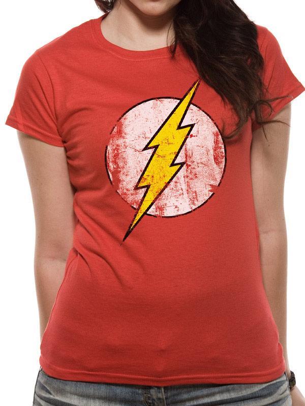 FLASH - T-Shirt IN A TUBE- Distressed Logo WOMAN (L)