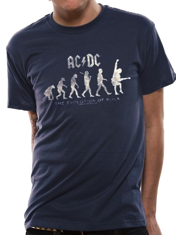 AC/DC - T-Shirt IN A TUBE- Evolution of Rock (S)