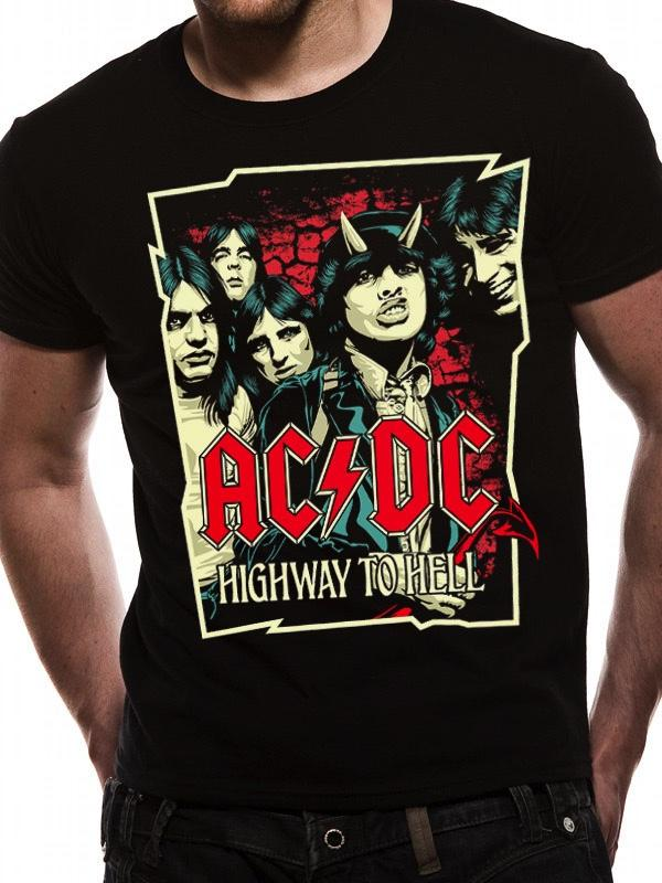 AC/DC - T-Shirt Highway Cartoon (L)