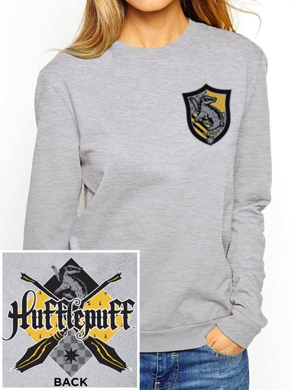 HARRY POTTER - Sweatshirt GIRL - Hufflepuff (S)