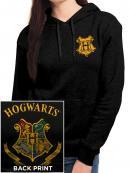 HARRY POTTER - Hooded Sweatshirt GIRL - Hogwarts (M)