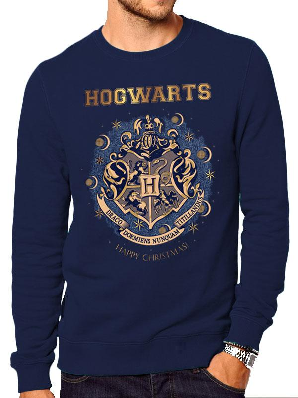 HARRY POTTER - Sweat a col round - Foil Christmas At Hogwarts (M)_1