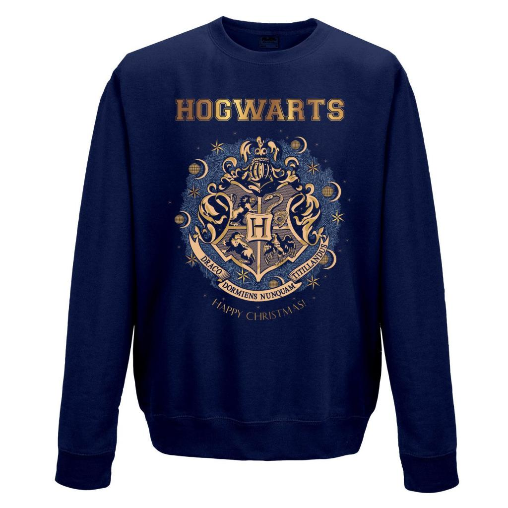 HARRY POTTER - Sweat a col round - Foil Christmas At Hogwarts (M)_2