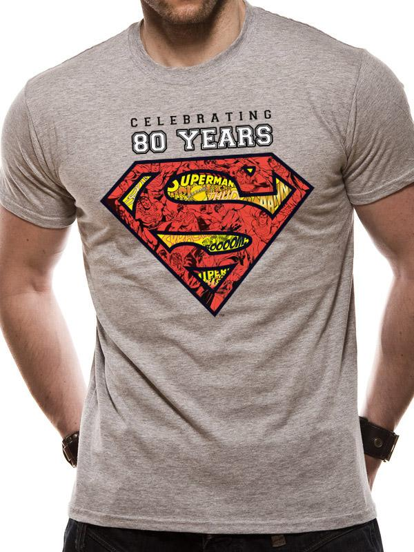 SUPERMAN - T-Shirt IN A TUBE- Celebration 80 Years (S)