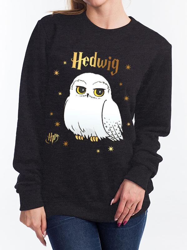 HARRY POTTER - Sweatshirt GIRL - Foil Hedwig Star (S)_1
