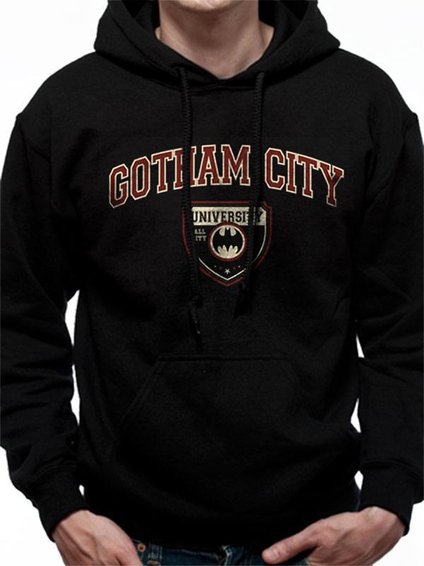 DC COMICS - Hooded Sweatshirt Gotham City University (S)