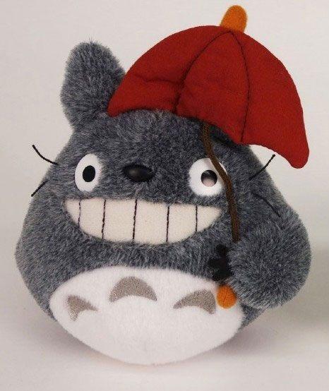 MON VOISIN TOTORO - Totoro Red Umbrella - Peluche 15cm
