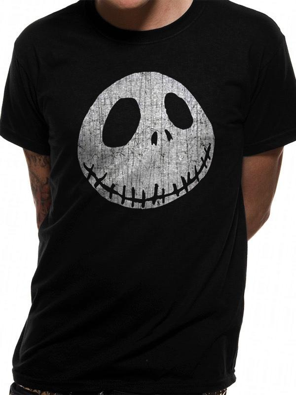 NIGHTMARE BEFORE CHRISTMAS - T-Shirt IN A TUBE- Jack Face (S)