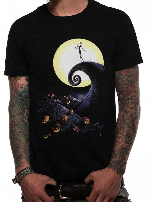 NIGHTMARE BEFORE CHRISTMAS - T-Shirt IN A TUBE- Cemetery (S)