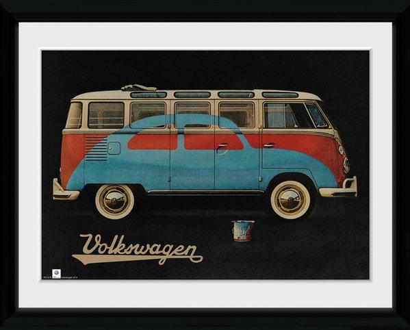 VW - Collector Print 30X40 - VW Camper Paint Advert_1