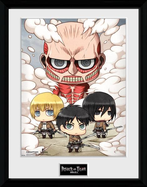 ATTACK ON TITAN - Collector Print 30X40 - Chibi Group