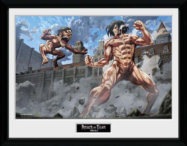ATTACK ON TITAN - Collector Print 30X40 - Titan Fight
