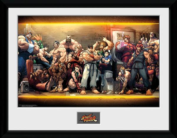 STREET FIGHTER - Collector Print 30X40 - Characters_1