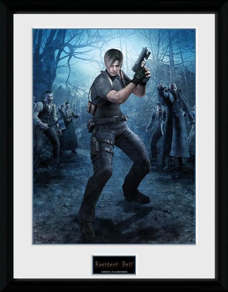 RESIDENT EVIL - Collector Print 30X40 - Leon Gun