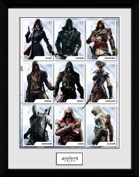 ASSASSIN'S CREED - Collector Print 30X40 - Compilation Characters
