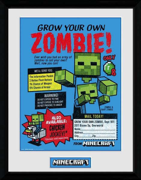 MINECRAFT - Collector Print 30X40 - Grow Your Own Zombie