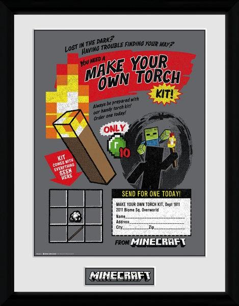 MINECRAFT - Collector Print 30X40 - Make you Own Torch