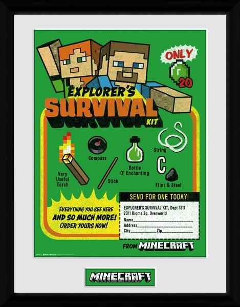MINECRAFT - Collector Print 30X40 - Survival Kit_2