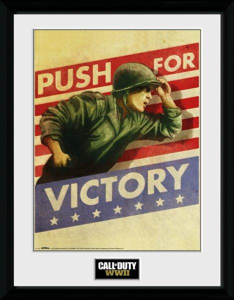 CALL OF DUTY WWII - Collector Print 30X40 - Push for Victory