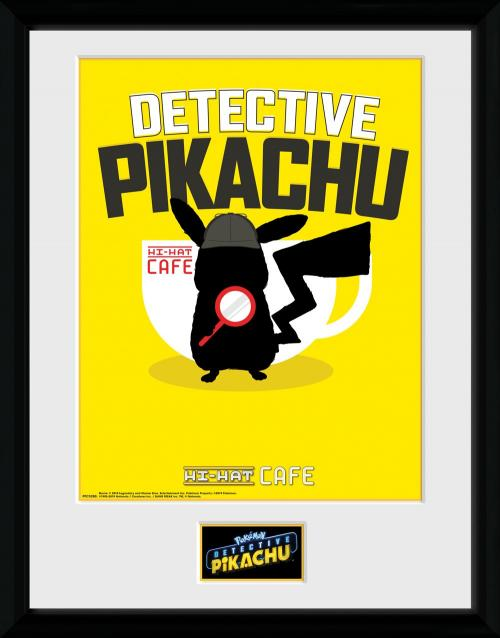 DETECTIVE PIKACHU - Collector Print 30X40 - Coffee