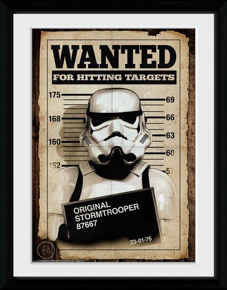 STAR WARS - Collector Print 30X40 - Original Stormtrooper Wanted