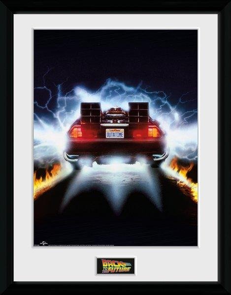 BACK TO THE FUTURE - Collector Print 30X40 - Delorean