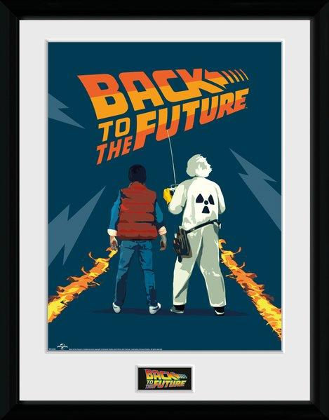 BACK TO THE FUTURE - Collector Print 30X40 - Doc and Marty