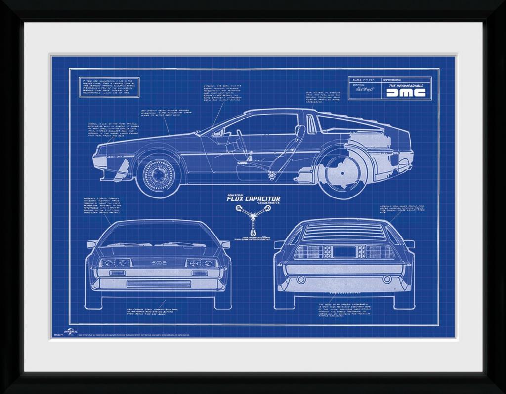 RETOUR VERS LE FUTUR - Collector Print 30X40 - Blueprint_1