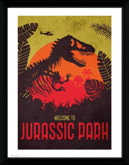JURASSIC PARK - Collector Print 30X40 - Silhouettte