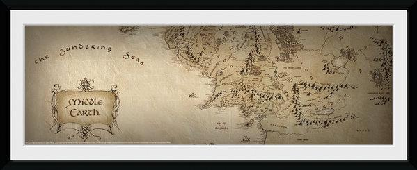 LORD OF THE RING - Collector Print 30X75 - Map