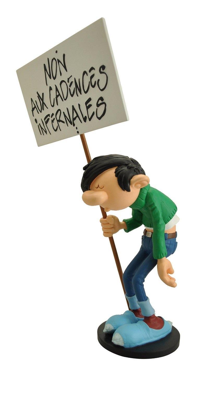 GASTON LAGAFFE - Figurine Resine - Non aux Cadences Infernales - 29cm