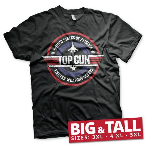 TOP GUN - T-Shirt Big & Tall - Fighter Weapons School (3XL)