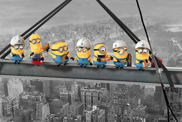 DESPICABLE ME - Poster 61X91 - Minions Lunch on a Skycraper